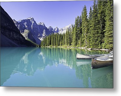 Moraine Lake And Valley Of The Ten Metal Print by Ken Gillespie