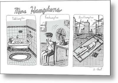 More Hamptons: Metal Print by Roz Chast