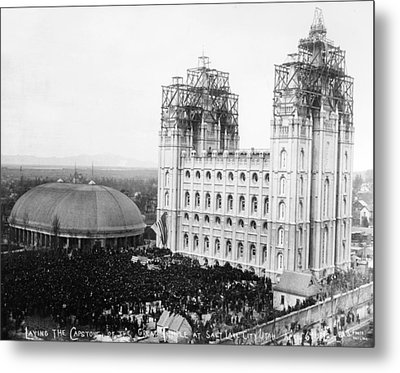 Mormon Temple, 1892 Metal Print