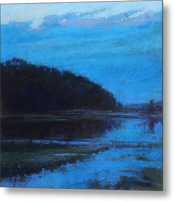 Morning Blues Metal Print by Ed Chesnovitch