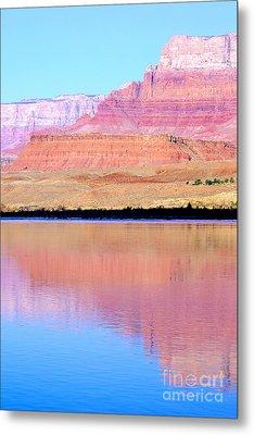 Morning Light - Vermillion Cliffs And Colorado River Metal Print by Douglas Taylor