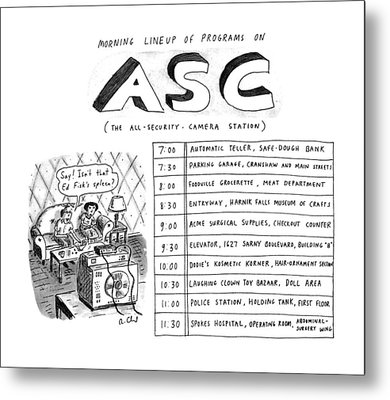 Morning Lineup Of Programs On Asc Metal Print