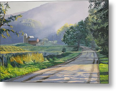 Morning Mist Metal Print by Kenneth Young