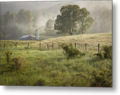 Morning Mist Metal Print by Mike Lang