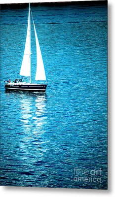 Morning Sail Metal Print by Flamingo Graphix John Ellis