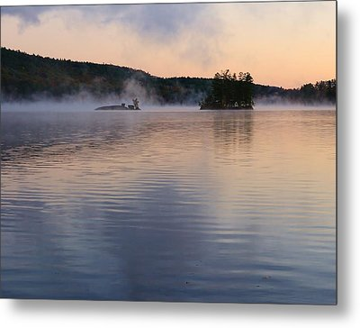 Metal Print featuring the photograph Morning Smoke by Paul Noble