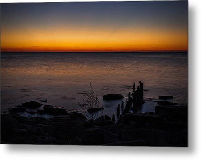 Morning Water Colors Metal Print by CJ Schmit