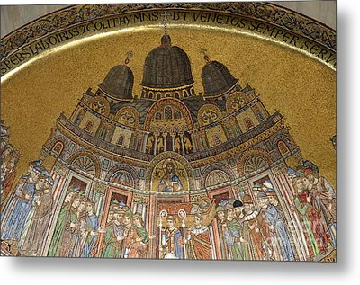 Mosaic Detail On San Marco Basilica Metal Print by Sami Sarkis