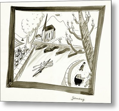Mosel River In Germany Metal Print by Ludwig Bemelmans