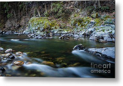 Mossy Rocks Metal Print by Mitch Shindelbower