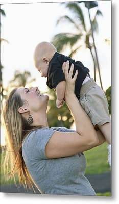 Mother And Baby Metal Print by Brandon Tabiolo