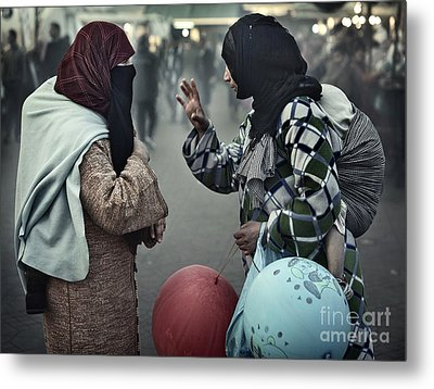 Metal Print featuring the photograph Mothers Having A Ball by Michel Verhoef