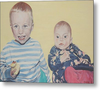 Metal Print featuring the painting Mothers Pride by Cherise Foster