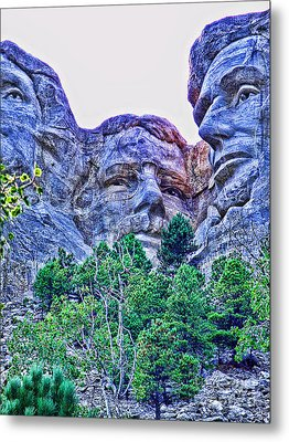 Mount Rushmore Roosevelt Metal Print by Tommy Anderson