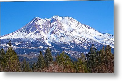 Metal Print featuring the photograph Mount Shasta California February 2013 by Michael Rogers