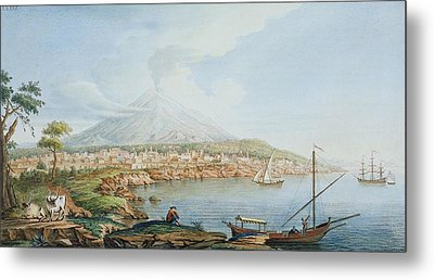 Mount Vesuvius, Plate 36 From Campi Metal Print by Pietro Fabris