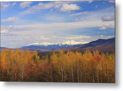 Mount Washington And Presidential Range Snow Foliage Metal Print