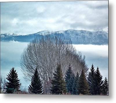 Mountain Cloud Metal Print
