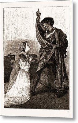 Mr. Irving And Miss Isabel Bateman In Othello At The Lyceum Metal Print