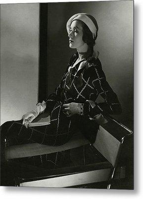 Mrs. Francis A. Wyman In A Crepe Dress Metal Print