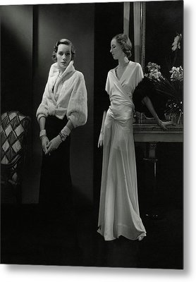 Mrs. Francis A. Wyman Wearing An Ermine Jacket Metal Print
