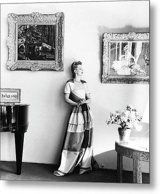 Mrs. James F. Marvane Wearing A Surah Metal Print