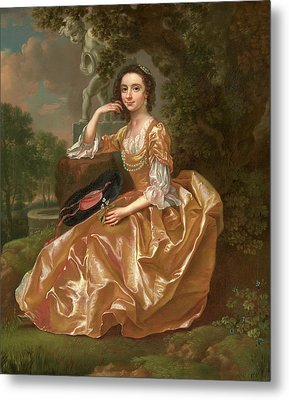 Mrs. Mary Chauncey A Young Woman Signed And Dated In Yellow Metal Print