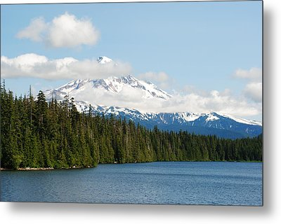 Mt Hood View From Lost Lake Metal Print by Robert  Moss