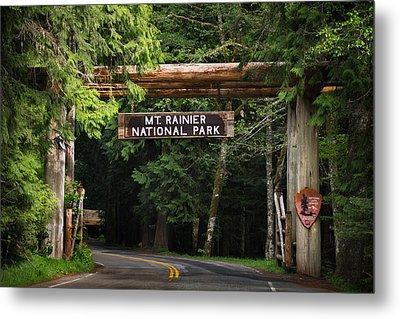 Mt Rainier Gateway Metal Print