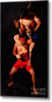 Muay Thai Arts Of Fighting Metal Print by Rames Ratyantarakor
