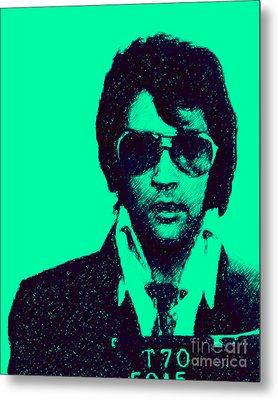 Mugshot Elvis Presley P128 Metal Print by Wingsdomain Art and Photography