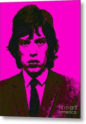 Mugshot Mick Jagger M80 Metal Print by Wingsdomain Art and Photography
