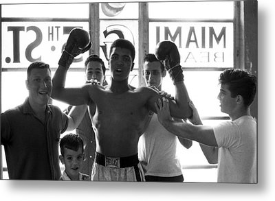 Muhammad Ali Raising Arms Metal Print by Retro Images Archive