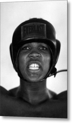 Muhammad Ali Teeth Gritted Metal Print by Retro Images Archive