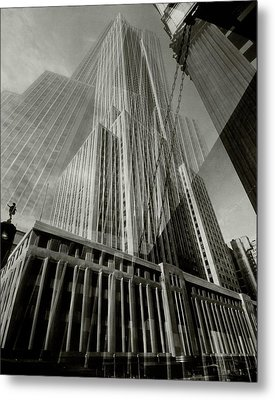 Multiple Exposure Of The Empire State Building Metal Print by Edward Steichen