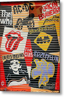 Music Street Art Color Metal Print by Luciano Mortula