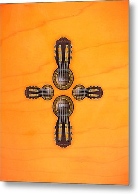 Musical Cross Metal Print by Doron Mafdoos