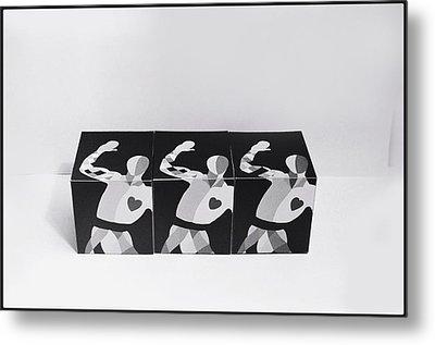 My Bauhaus Harlequin Metal Print by Charles Stuart