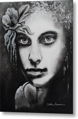 Metal Print featuring the drawing My Beautiful Belladonna by Carla Carson