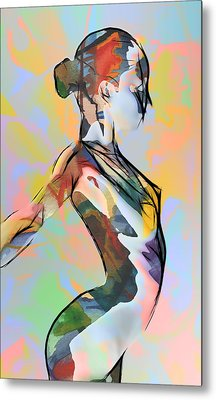 My Colorful Ballerina  Metal Print by Steve K