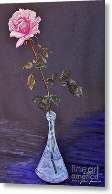 My Mothers Rose Metal Print by Nina Ficur Feenan