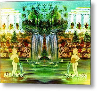 Metal Print featuring the painting My Rome by Denise Tomasura