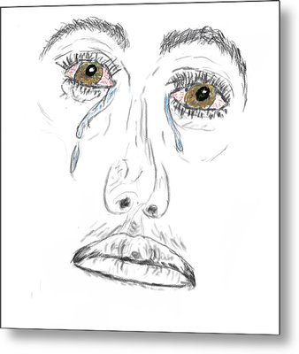 My Tears Metal Print