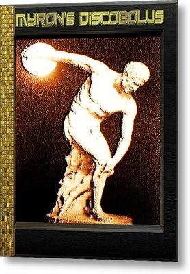 Myron's Diskobolus Metal Print by Museum Quality Prints -  Trademark Art Designs