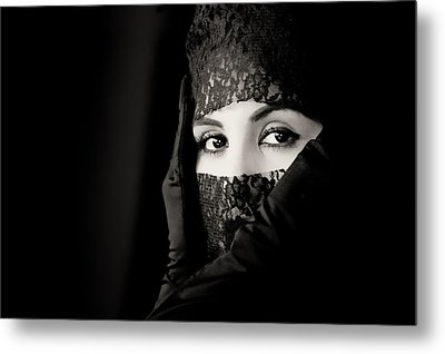 Mystery That Is Woman Metal Print
