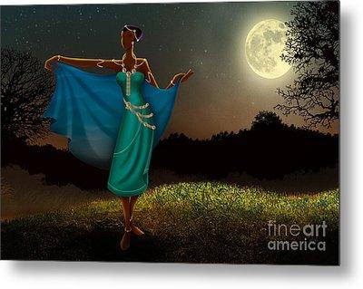 Mystic Moonlight V1 Metal Print by Bedros Awak