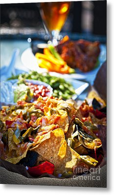 Nacho Plate And Appetizers Metal Print by Elena Elisseeva