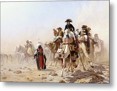 Napoleon And His General Staff Metal Print by Jean Leon Gerome