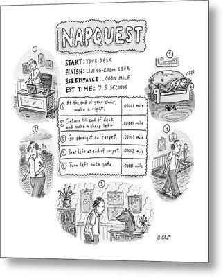 Napquest Metal Print by Roz Chast
