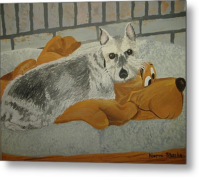 Naptime With My Buddy Metal Print by Norm Starks
